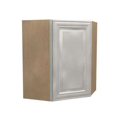 24x30x12 in. Brookfield Assembled Wall Angle Cabinet with 1 Door Left Hand in Pacific White