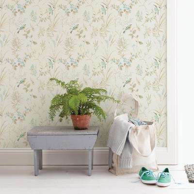 56.4 sq. ft. Imperial Garden Beige Botanical Wallpaper