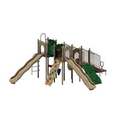 UPlay Today Boulder Point (Natural) Commercial Playset with Ground Spike