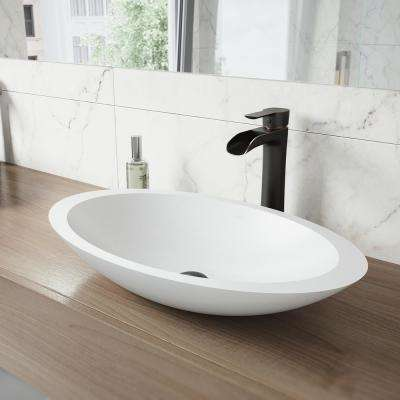 Niko Single Hole Single-Handle Vessel Bathroom Faucet in Antique Rubbed Bronze with Pop-Up