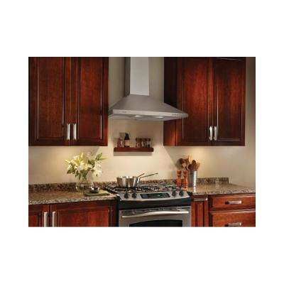 NS58000 Series 30 in. Convertible Wall Mount Range Hood with Light in Stainless Steel