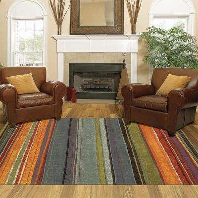 Rainbow Multi 3 ft. x 4 ft. Indoor Area Rug