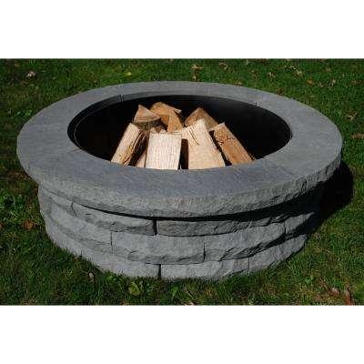 Ledgestone 47 in. Concrete Fire Pit Ring Kit Gray