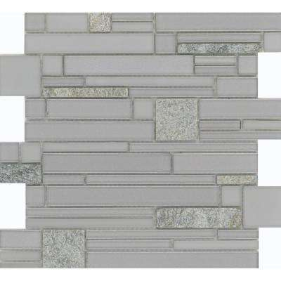 Entity Spirit Glossy 11.81 in. x 11.81 in. x 8mm Glass Mesh-Mounted Mosaic Tile (0.97 sq. ft.)