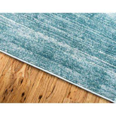 Uptown Collection by Jill Zarin™ Madison Avenue Turquoise 2' 2 x 6' 0 Runner Rug