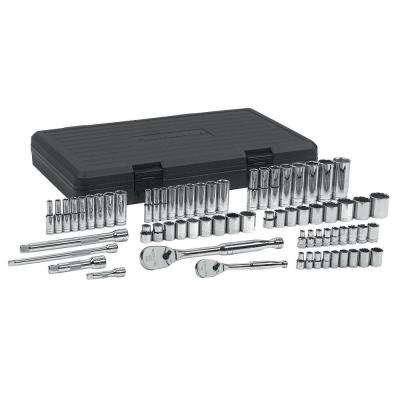 1/4 and 3/8 in. SAE/Metric Standard/Deep Socket Set (68-Piece)