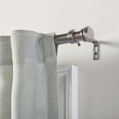 Mix and Match 72 in. L - 144 in. L Telescoping 1 in. Single Curtain Rod Kit in Gunmetal