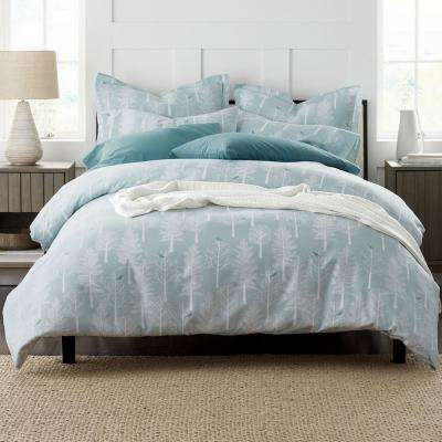 Snow Tree Flannel Duvet Cover