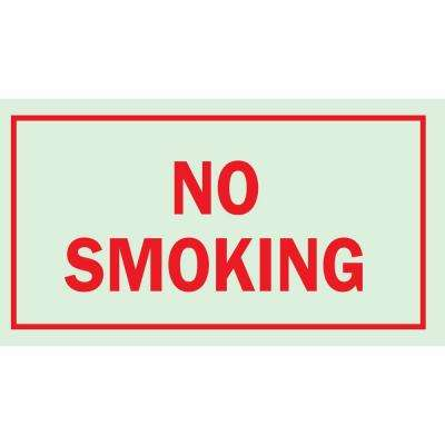 7 in. x 10 in. Glow-in-the-Dark Self-Stick Polyester No Smoking Sign