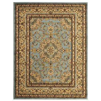 Traditional Oriental Medallion Light Blue 5 ft. 3 in. x 7 ft. Area Rug