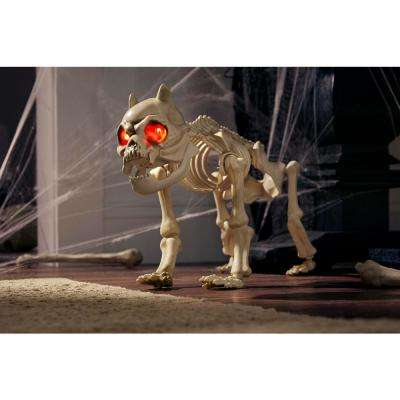19 in. Animated Skeleton Dog