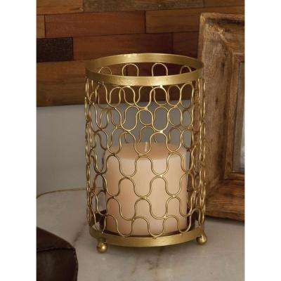 Golden Iron Mesh Candle Holders (Set of 2)
