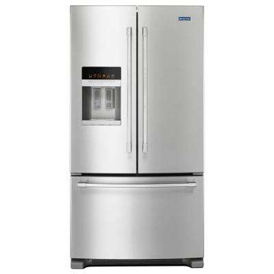 36 in. W 24.7 cu. ft. French Door Refrigerator in Fingerprint Resistant Stainless Steel