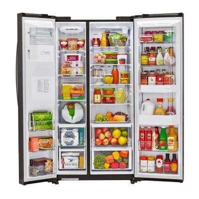 26 cu. ft. Side-by-Side Refrigerator with Door-in-Door in Black Stainless Steel