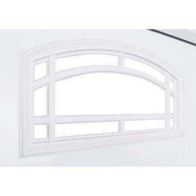 72 in. x 80 in. Camber Top Primed White Steel Prehung Front Door with 16 in. 3 Lite Sidelites RH 4-9/16 in. Frame