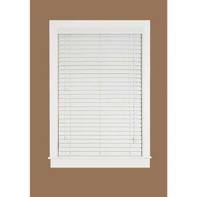 White 2 in. Faux Wood Plantation Blind - 39 in. W x 64 in. L (Actual Size 38.5 in. W 64 in. L )