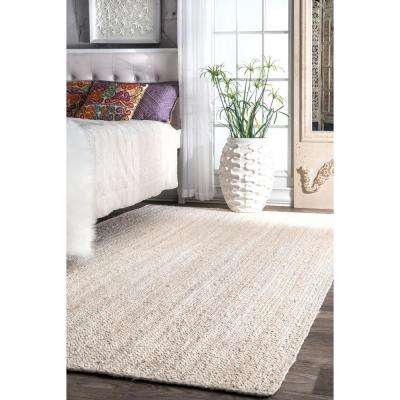 Rigo Jute Off White 3 ft. x 5 ft. Area Rug