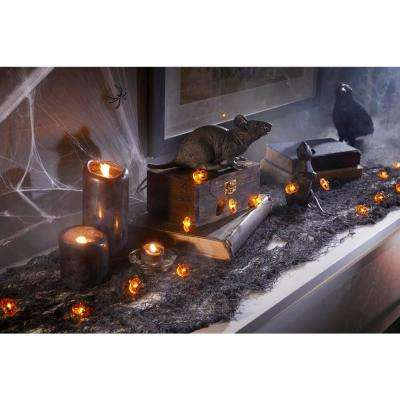 6 ft. 18 Warm White LED Halloween Pumpkin Lights with Timer