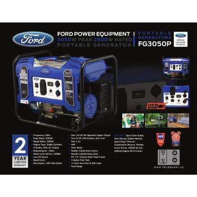 3,050/2500-Watt Gasoline Powered Recoil Start Portable Generator with 180 cc Ducar Engine