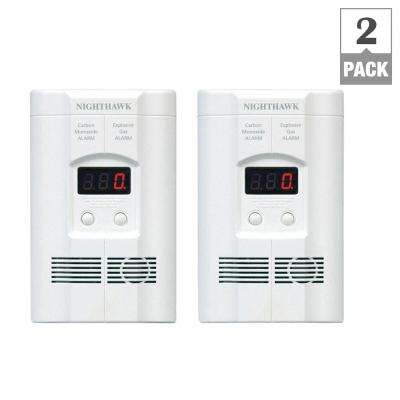AC Plug-In Gas/Carbon Monoxide Detector with Battery Back Up (2-Pack)