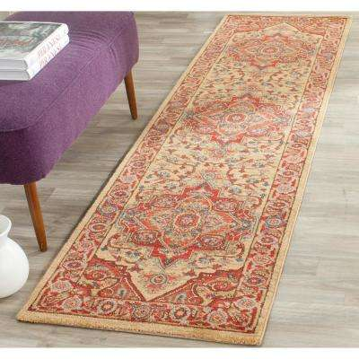 Mahal Red/Natural 2 ft. x 18 ft. Runner Rug