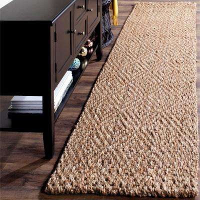 Natural Fiber Beige 2 ft. 3 in. x 18 ft. Runner Rug