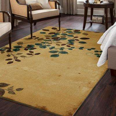 Plum Vine Multi 5 ft. x 7 ft. 3-Piece Indoor Rug Set