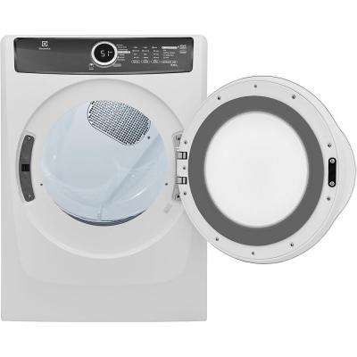 8.0 cu. ft. Gas Dryer with Steam in White, ENERGY STAR