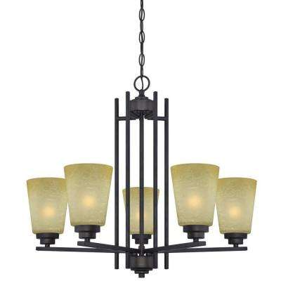 Ewing 5-Light Oil Rubbed Bronze Chandelier