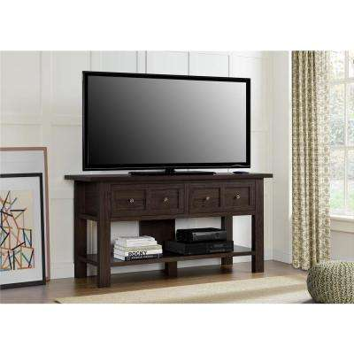 Altra Pillars Apothecary 55 in. TV Stand and Console Table in Cherry