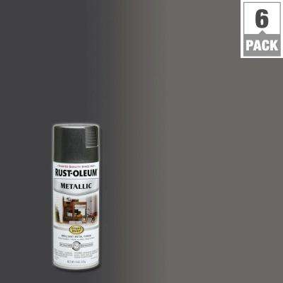 11 oz. Metallic Charcoal Protective Enamel Spray Paint (6-Pack)