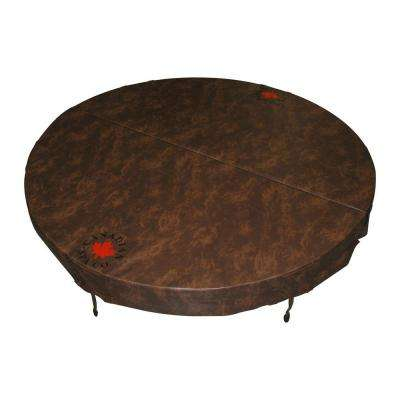 72 in. Round Hot Tub Cover with 5 in./3 in. Taper - Chestnut