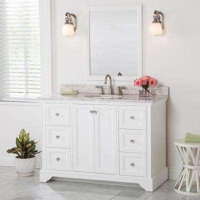 Stratfield 48 in. W x 22 in. D x 34 in. H Bath Vanity Cabinet Only in White