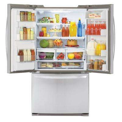 19.8 cu. ft. French Door Refrigerator in Stainless Steel, Counter Depth