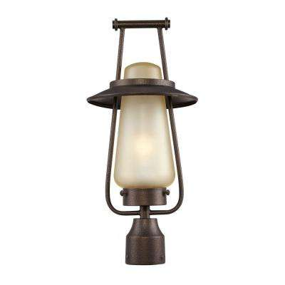 Stonyridge 1-Light Flemish Bronze Outdoor Fluorescent Post Lantern