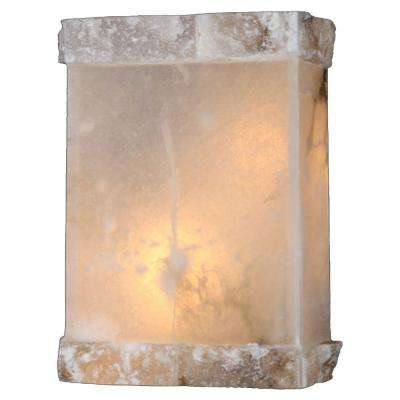 Pompeii Collection 1-Light Flemish Brass and Natural Quartz Sconce
