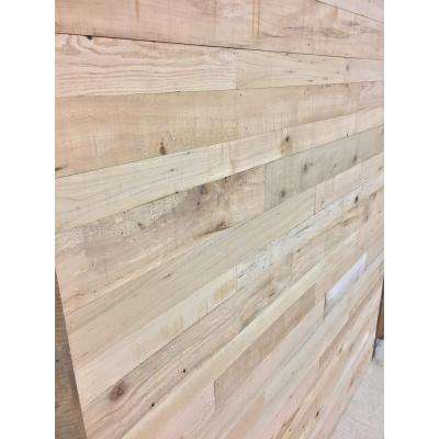24 sq. ft. 5-1/2 in. Wide Heirloom Face Reclaimed Barn Wood Long Plank Wall Paneling Kit