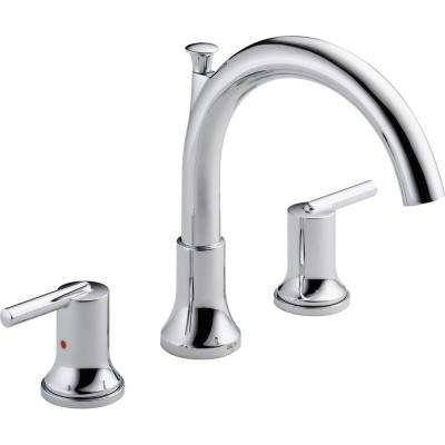 Trinsic 2-Handle Deck-Mount Roman Tub Faucet Trim Kit Only in Chrome (Valve Not Included)