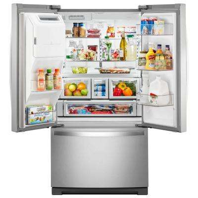 27 cu. ft. Built-In French Door Refrigerator in Fingerprint Resistant Stainless Steel
