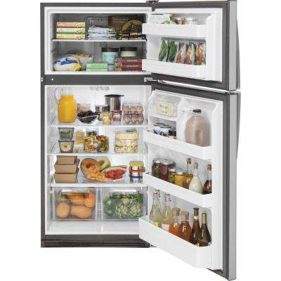 20.8 cu. ft. Top Freezer Refrigerator in Stainless Steel