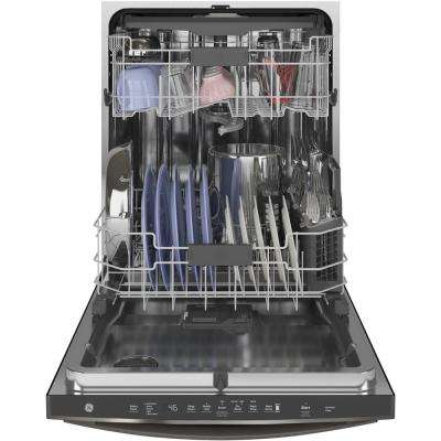 Top Control Tall Tub Dishwasher in Black Slate with Stainless Steel Tub and Steam Prewash, 46 dBA