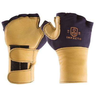 Finger Less Anti-Impact Glove with Wrist Support