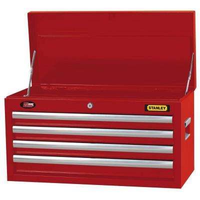 26 in. 4-Drawer Tool Chest in Wide Red
