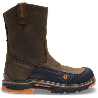 Men's Overpass Brown Leather Waterproof Composite Toe Boot