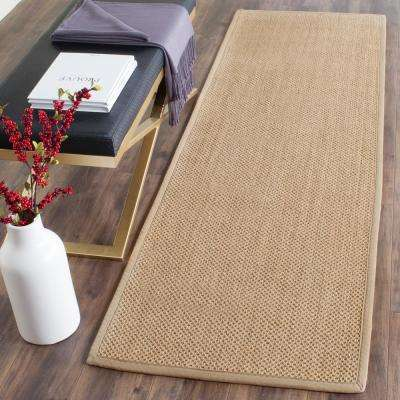 Natural Fiber Maize/Linen 3 ft. x 10 ft. Runner Rug