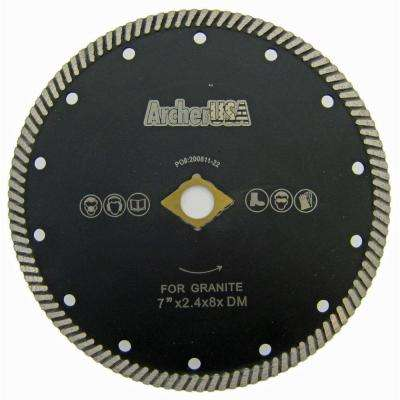 7 in. Type 2 Narrow Turbo Diamond Blade for Granite Cutting