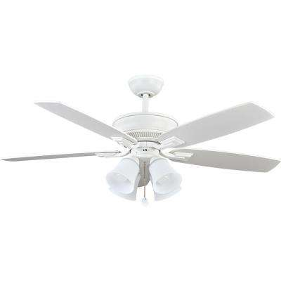 52 in. Devron LED Matte White Ceiling Fan