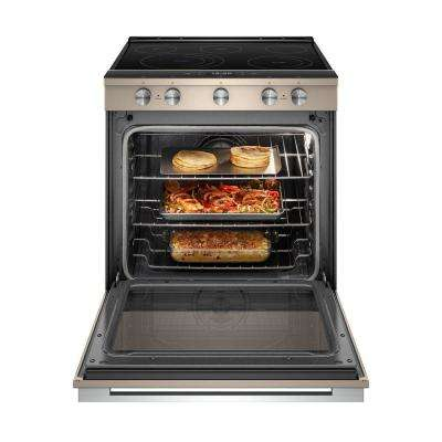 6.4 cu. ft. Smart Slide-in Electric Range with Scan-to-Cook Technology in Sunset Bronze