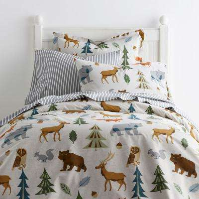 Night Forest 200-Thread Count Cotton Percale Duvet Cover
