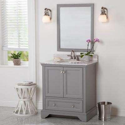 Stratfield 30 in. W x 21.57 in. D x 34.25 in. H Bath Vanity Cabinet Only in Sterling Gray